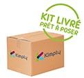KIMPLY ® :  Colis rail coulissant pour porte souple à lanières ou rideau à lamelles mobiles