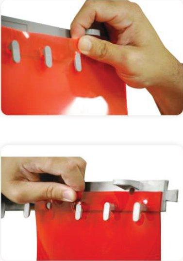 KIMPLY ® : Kit Barre support d'accrochage en Polypropylène  pour votre porte à lanières