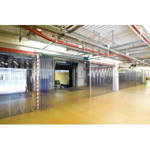 Rideau à lanières souples PVC repliables accordéon