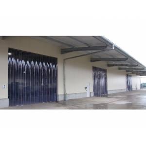 Porte à lanières thermiques
