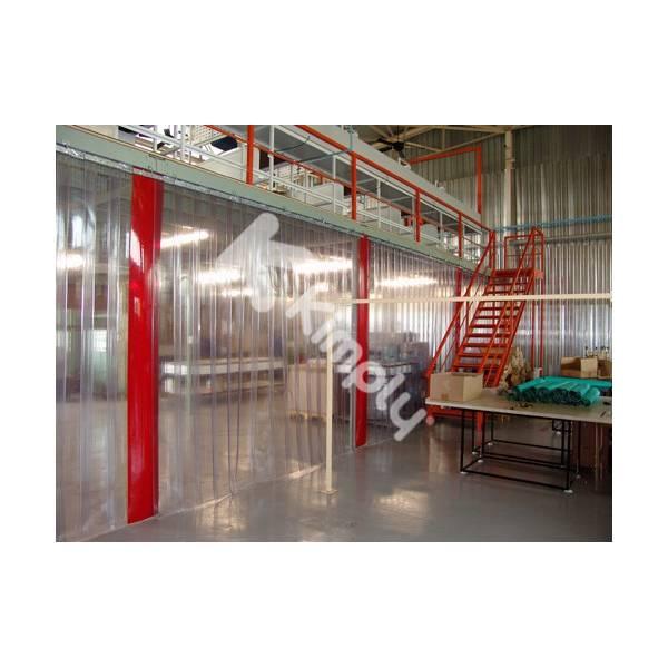 Rideau industriel transparent