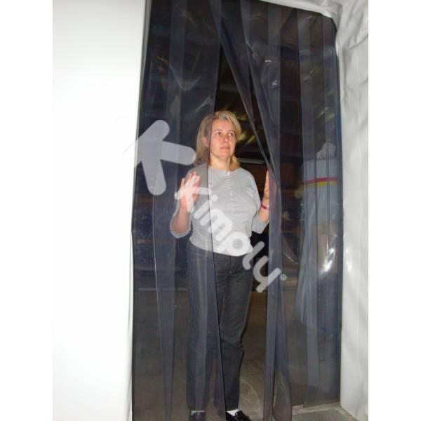 rideau à lamelles pour le passage de personnel