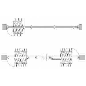 Mécanisme repliable accordéon pour porte à lanière coulissante