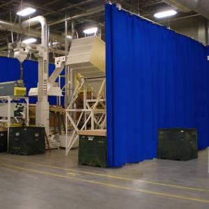 Rideau PVC industriel
