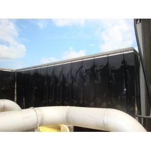 Cabine machine acoustique avec lanières PVC