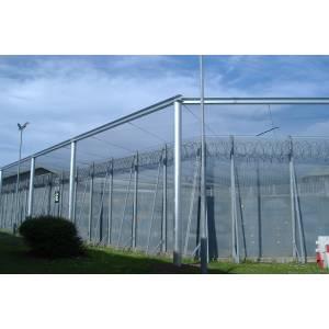 Filet de sécurité ignifugé pour prison