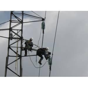 Filet de sécurité pour la construction de ligne électrique aériennes