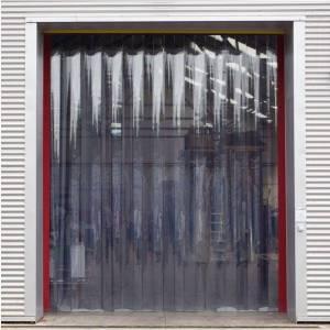Porte à lanières PVC transparentes avec isolation thermique
