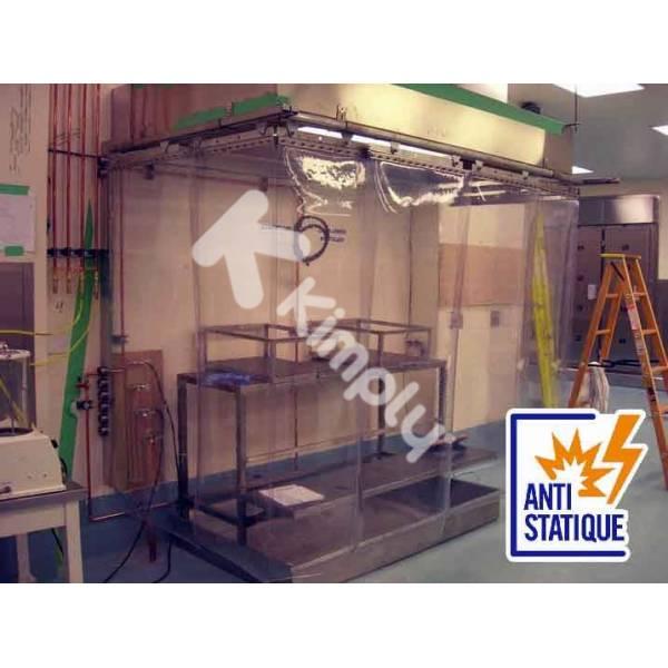 rideau de confinement à lamelles souples ATEX