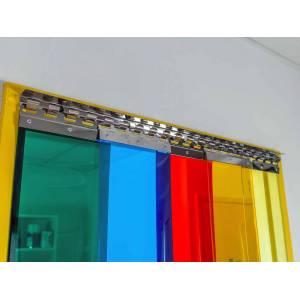 Porte à lamelles souples PVC multicolores