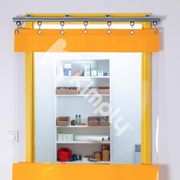 Rideau industriel en PVC transparent