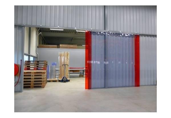 Porte à lanières PVC, rideau de portes lamelles plastiques