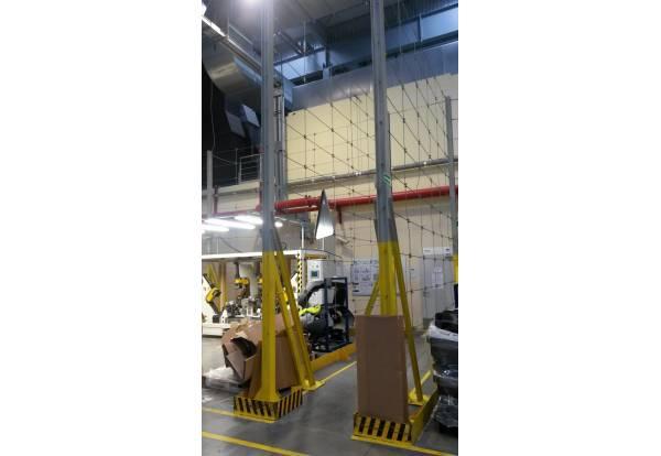 Filet de sécurité anti chute, barrière, filet de sécurité industrielle, barrière de protection